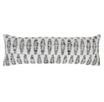 Pom Pom at Home Avalon Handwoven Pillow - White/Grey