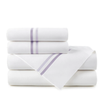 Peacock Alley Duo Striped Sateen Sheet Set - Lilac
