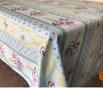 Le Cluny Provencal Coated Cotton Tablecloths - Lavender Blue