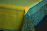 Jacquard Weave French Tablecloth - Kashmir Turquoise