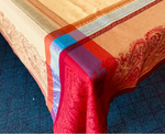 Jacquard Weave French Tablecloth - Kashmir Yellow/Red