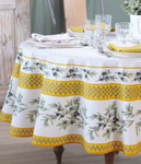 Provence Garance Coated Cotton Round Tablecloths - Soleil