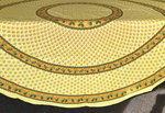Le Cluny Provencal Coated Cotton Round Tablecloths - Monaco yellow