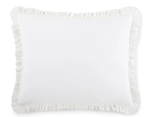 Peacock Alley Ellie Ruffled Washed Percale Sham
