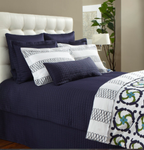DownTown Company Urban Quilted Coverlet - Navy