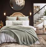 Orchids Lux Home Dana Blanket - Mint