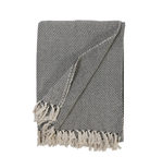 Pom Pom at Home Jayden Oversized Throw - Ivory/Charcoal