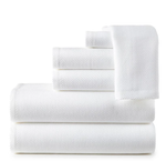 Peacock Alley 6 Piece Spa Towel Set - White