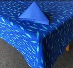 Le Cluny Provencal Coated Cotton Tablecloths - Sardines Blue