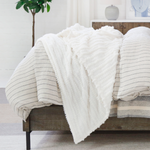 Pom Pom at Home Camille Oversized Throw - Winter White