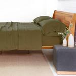 Pom Pom at Home Linen Sheet Set - Forest