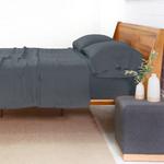 Pom Pom at Home Linen Sheet Set - Navy