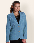 Flair Marled Not Your Basic Blazer - Turquoise
