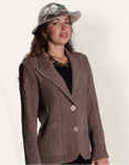 Flair Solid Not Your Basic Blazer - Taupe