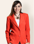 Flair Solid Not Your Basic Blazer - Spice