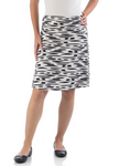 Bamboo Dreams® Short Skirt - Black Brushstroke