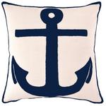Fresh American Admiral Ivory/Navy Indoor/Outdoor Pillow