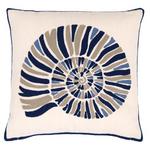 Fresh American Nautilus Navy Indoor/Outdoor Pillow