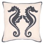 Fresh American Sea Horse Graphite Indoor/Outdoor Pillow