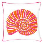 Fresh American Nautilus Fuchsia Indoor/Outdoor Pillow
