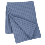 Pine Cone Hill Boyfriend Storm Blue  Matelassé Throw