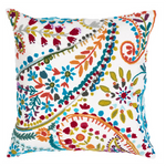 Pine Cone Hill Amelie White Embroidered Square Pillow