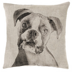 Fresh American Boxer Natural Decorative Pillow