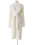 Pine Cone Hill Selke Fleece Ivory Hooded Robe