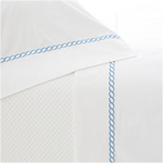 Pine Cone Hill Helix French Blue Flat Sheet