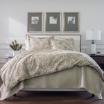 Peacock Alley Baroque Duvet Cover - Linen
