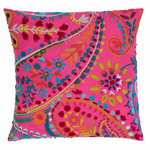 Pine Cone Hill Amelie Fuchsia Embroidered Decorative Pillow