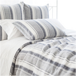 Pine Cone Hill Hampton Ticking Linen Indigo Duvet Cover