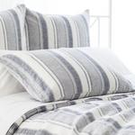 Pine Cone Hill Hampton Ticking Linen Indigo Pillow Sham
