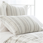 Pine Cone Hill Hampton Ticking Linen Natural Pillow Sham