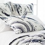 Pine Cone Hill Brushstroke White/Indigo Pillow Sham