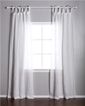 Pom Pom at Home Linen Voile Tie Top White Curtain