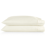 Peacock Alley Supima® Semplice Sateen Pillow Cases - Ivory