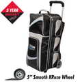 Columbia 300 Team Columbia 3 Ball Roller Bowling Bag - Black/Silver