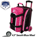 Ebonite Eclipse 2 Ball Roller Bowling Bag - Pink