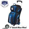 Ebonite Equinox 3 Ball Roller Bowling Bag - Black/Blue