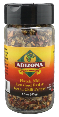 A mix of the Hatch Red and Green chile flakes.  The perfect addition to flavor!