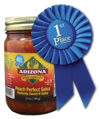 Award Winning and Perfectly Sweet and Spicy.   One of our best selling salsas.  Use on fish tacos, pork roast, chicken and salmon.   Makes a great glaze or marinade.