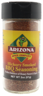 Honey Sweet with Naturally smoked Hickory Sea Salt. Slightly Spicy.  Great on Shrimp, Steak, Chicken, Pork, and Turkey Burgers.