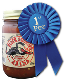 Black Scorpion™ Salsa: Heat backed by the flavor of 11 different kinds of peppers make this extra hot salsa sure to please the heat seeker who enjoys great flavor.  Rich, thick and chunky enough to pile on your steak, chicken or mix with rice for a great flavor.