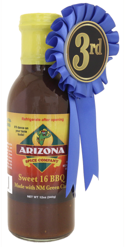 So much flavor you can just ditch the ketchup.  A little spicy with 16 main ingredients.  Looking for a hotter version?  Try our Arizona 18 with Ghost Pepper