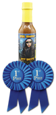 Made with Arizona Honey and winning awards!   This hot sauce is a Medium heat level.  Honey Sweet and Spicy.  A great mix for marinating or dipping.