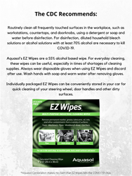 Aquasol EZ Wipes Saturated Cleaning Wipes 100 Pack