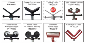 """Each Head Equipped with 1.5"""" Acme Threaded Rod Can be used with any stand that accepts the 1.5"""" Acme Threaded Rod 1 ½"""" Acme rod is largest in the industry. More head options than any other manufacturer."""