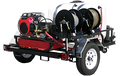 TRHDC8035HG, Gas Engine Polychain Drive Trailer Models (w/o Hose),  8.0 GPM, 3500 PSI,  GX690 Honda, GP Pump