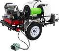 TRHDCJ/VB5535VG, Gas Engine V-Belt Drive Trailer Models (w/o Hose),  5.5 GPM, 3500 PSI,  18 HP Vanguard, HP Pump